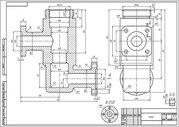 Инженерная графика,  начертательная геометрия (от руки,  карандашом)