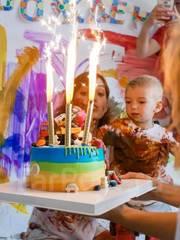 Организация детского Дня Рождения - свободное рисование