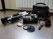Продам зеркальный фотоаппарат с объективом