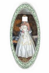 Продам красивое свадебное платье с золотистой вышивкой
